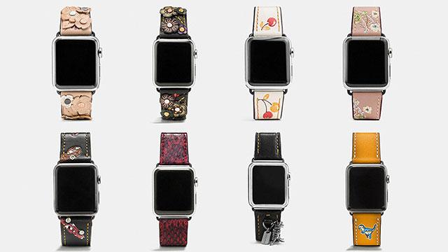 COACH Apple Watch レザーストラップ