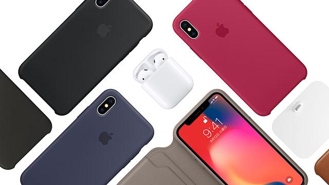 iPhone Xシリコーンケース/レザーケース/レザーフォリオケース