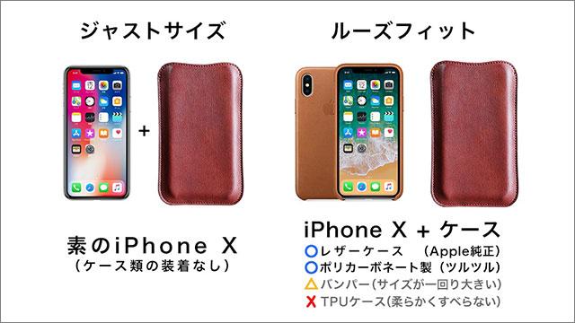 国立商店 職人が作るレザースリーブ for iPhone X