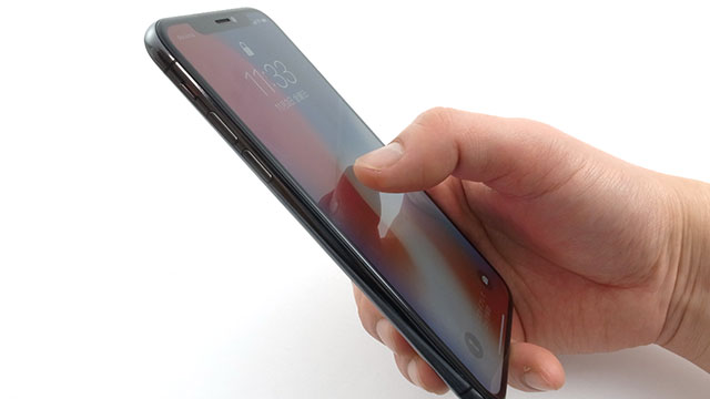 iPhone Xの画面をタップしてスリープ解除
