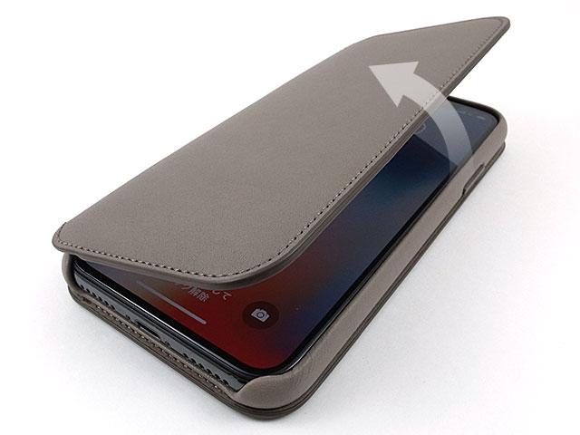iPhone X レザーフォリオケース