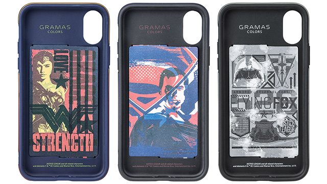 GRAMAS COLORS Hybrid Case with Justice League for iPhone X