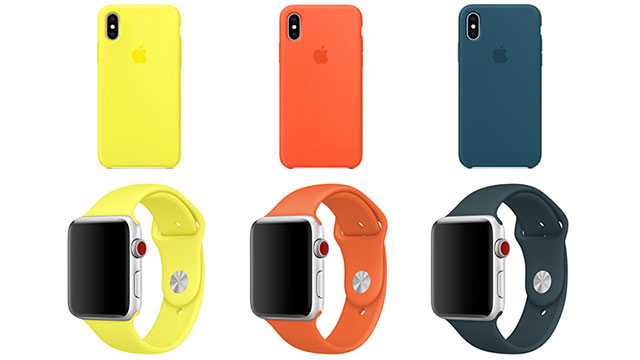 iPhone Xシリコーンケース/Apple Watchスポーツバンド