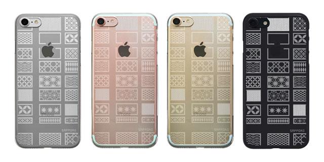【iPhone 8/7 ケース】SAPPORO+ kiriko エアージャケット クリア