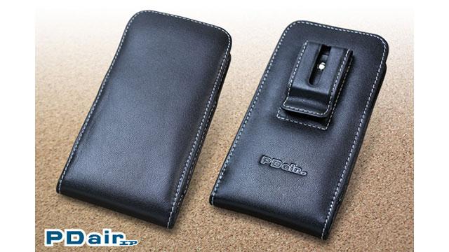 PDAIR レザーケース for iPhone X ベルトクリップ付バーティカルポーチタイプ