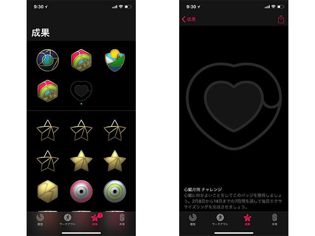 Apple Watch アクティビティ 心臓月間チャレンジ