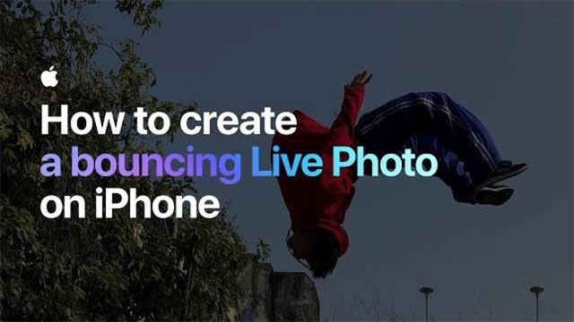 How to create a bouncing Live Photo on iPhone