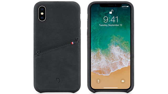 Decoded Leather Snap-On Case for iPhone X