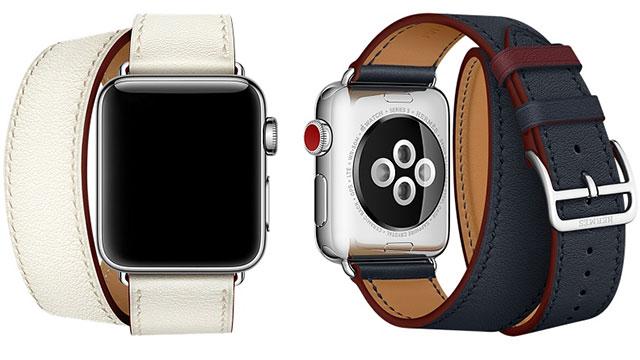 Apple Watch Hermès - 38mmケース用ドゥブルトゥールレザーストラップ