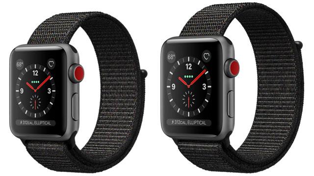Apple Watch スペースグレイアルミニウムケースとブラックスポーツループ(GPS + Cellularモデル)