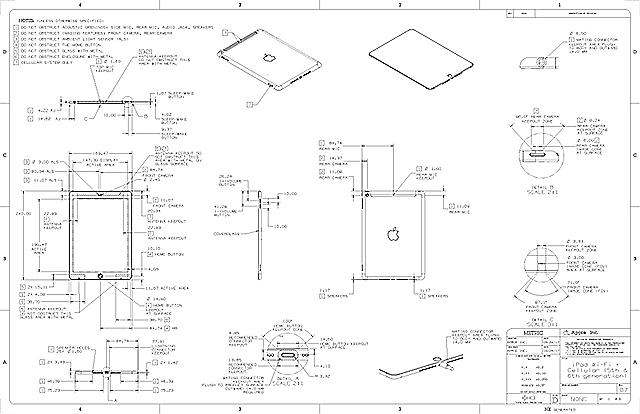 第6世代iPad(9.7インチ)の寸法図面