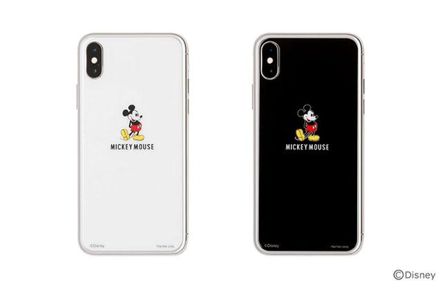 iPhone X専用 ディズニーキャラクター プレミアムガラス9H 強化ガラス 背面保護シート0.33mm