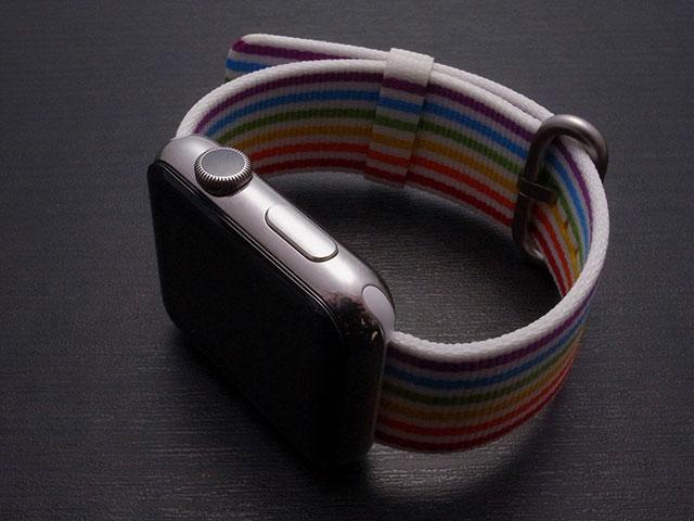 プライドエディションウーブンナイロン Apple Watchバンド