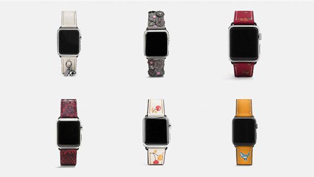 COACH Apple Watch用レザー ストラップ