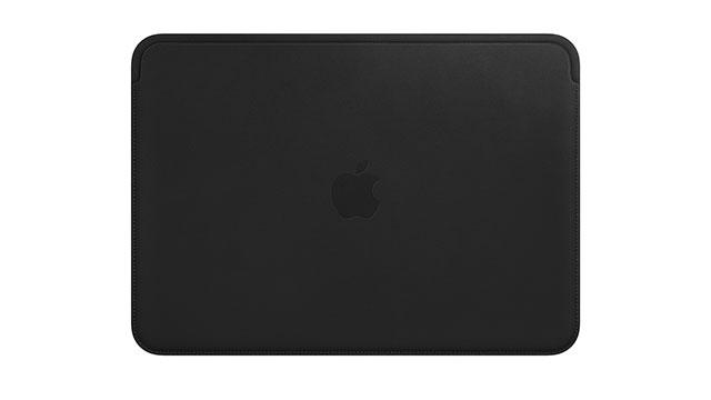 12インチMacBook用レザースリーブ ブラック