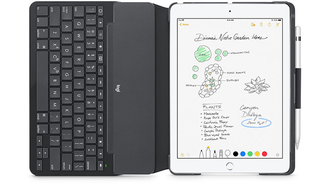 Logicool Slim Folio Bluetoothキーボード搭載ケース iPad用