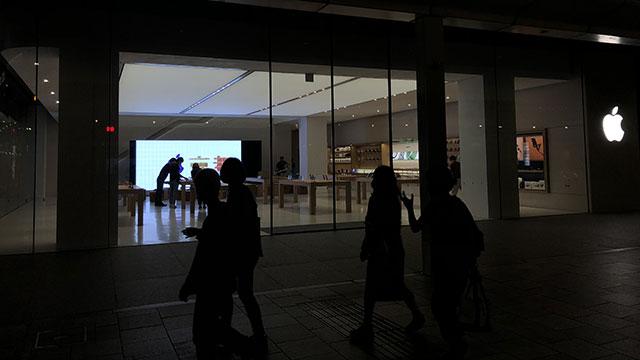 Apple京都のエントランス