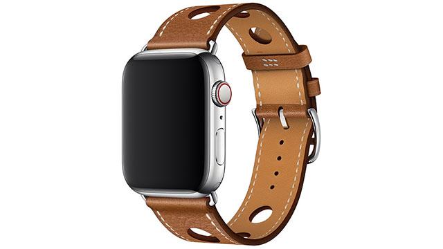 Apple Watch Hermès - 44mmケース用シンプルトゥールラリーレザーストラップ
