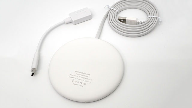 Smart Wireless Charge Qi ワイヤレス充電パッド info LED