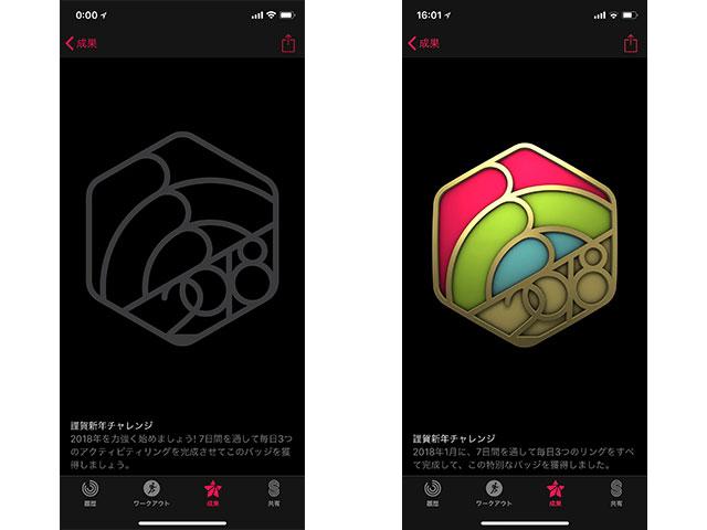 Apple Watch 謹賀新年チャレンジ