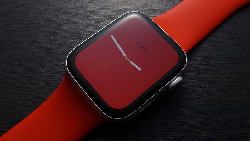 Apple Watch (RED)文字盤