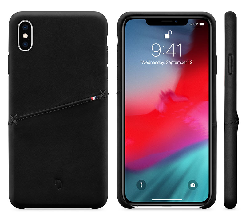 Decoded Leather Snap-On Case for iPhone XS Max