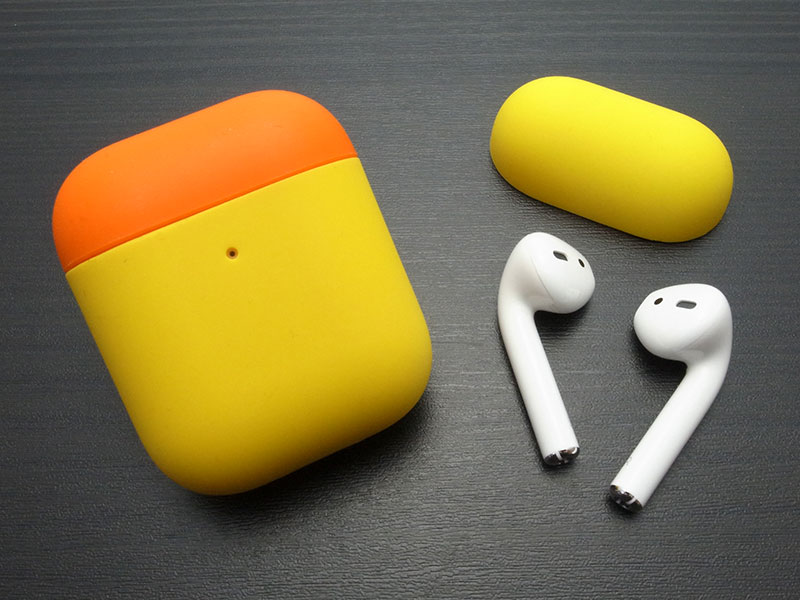 Power Support Silicone Dual Cap Case for AirPods