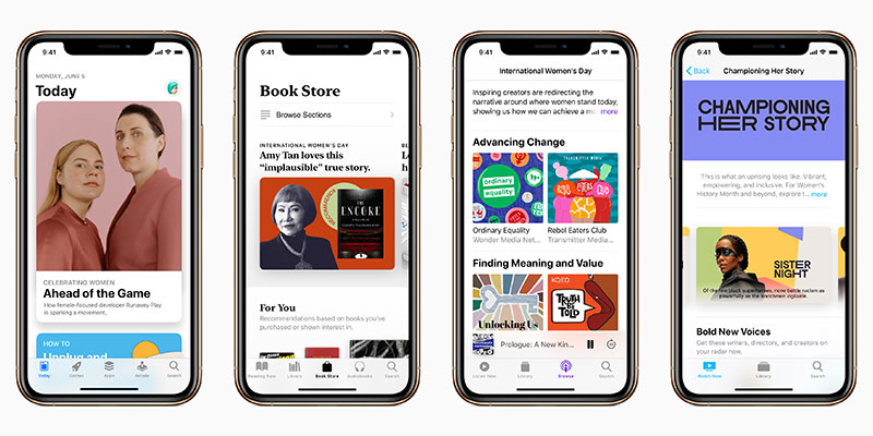 App Store/Apple TV/Apple Books/Apple Podcast