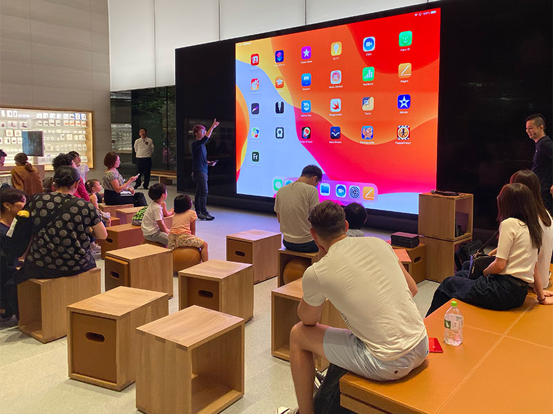 Apple福岡のToday at Appleセッションの様子