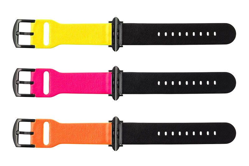 "GRAMAS ""NEON"" Italian Genuine Leather Watch band for Apple Watch"