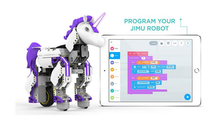 UBTECH Jimu Robot Mythical UnicornBot Building and Coding STEM Learning Kit