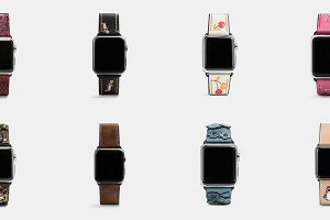 COACH Apple Watchレザーストラップ