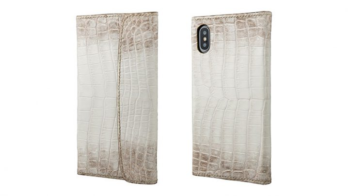 GRAMAS Meister Himalayas Crocodile × Elephant Leather Case for iPhone X/XS