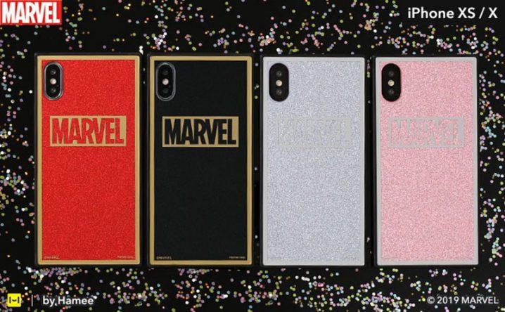 iPhone XS/X専用 MARVEL/マーベルTILEケース/ロゴ