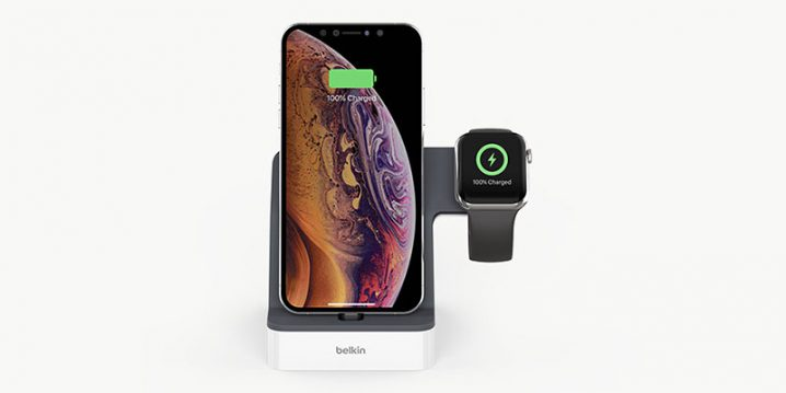 ベルキン PowerHouse 充電ドック(Apple Watch + iPhone XS, iPhone XS Max, iPhone XR用)
