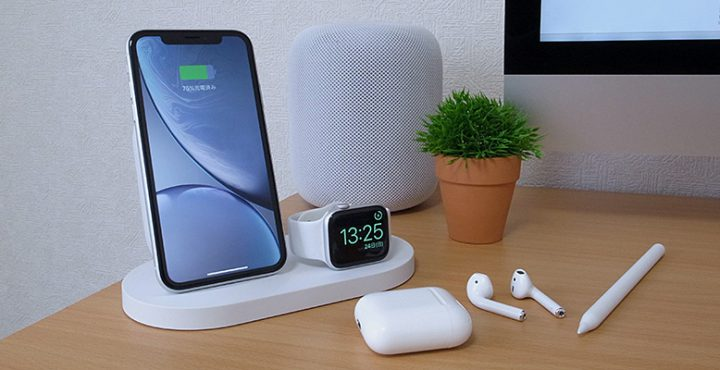 Belkin BOOST↑UP ワイヤレス充電ドック(iPhone + Apple Watch向け、USB-Aポート付き)
