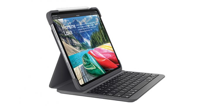 Logicool Slim Folio Pro Case with Integrated Bluetooth Keyboard for iPad Pro