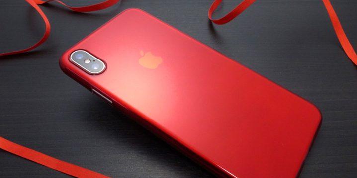 パワーサポート エアージャケット for iPhone XS Max クリアレッド