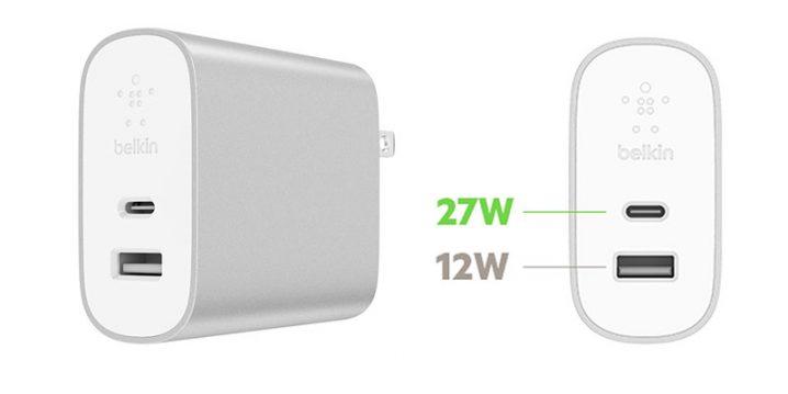 Belkin BOOST↑CHARGE USB充電器(27W USB-C + 12W USB-A)