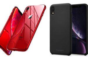 Spigen iPhone XRケース クォーツ・ハイブリッド/シリコンフィット