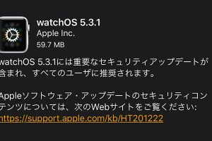 watchOS 5.3.1 ソフトウェア・アップデート