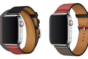 Apple Watch Hermèsレザーストラップ ヴォー・スウィフト(ノワール/ブリック/エタン)