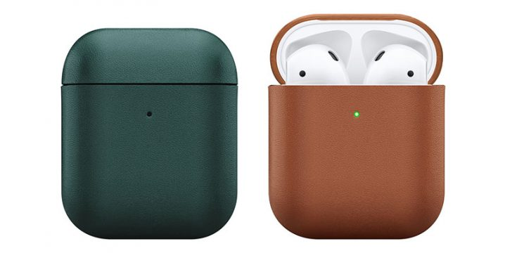 Native Union Leather Case for AirPods グリーンとタン