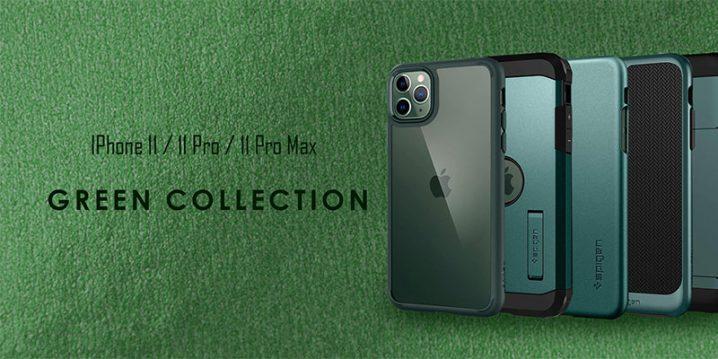 Spigen ミッドナイトグリーン iPhone 11 Proケース