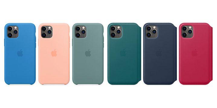 iPhone 11 Proシリコーンケースとレザーフォリオ