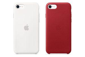 iPhone SEシリコーンケースとレザーケース