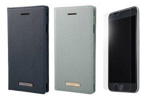 GRAMAS COLORSのiPhone SE(第2世代)用手帳型ケースとガラスフィルム
