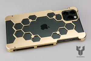 ワイエスデザイン iPhone用プロテクターケース brass