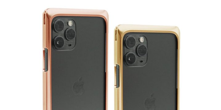 ファクトロンのiPhone 11 Pro用ケース・シンプレックスの純銅製と真鍮製