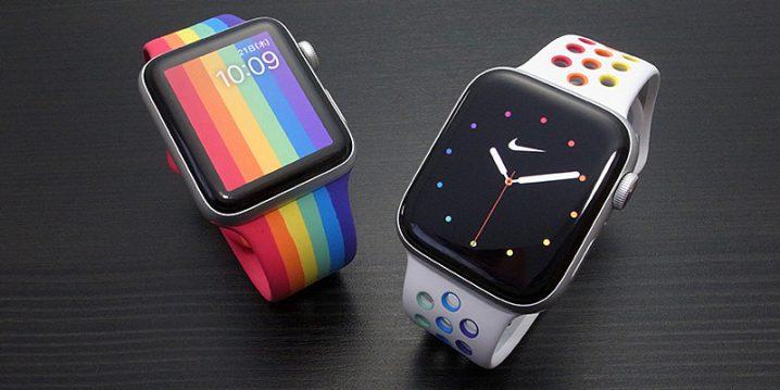 Apple Watch プライドエディション スポーツバンドとNikeスポーツバンド